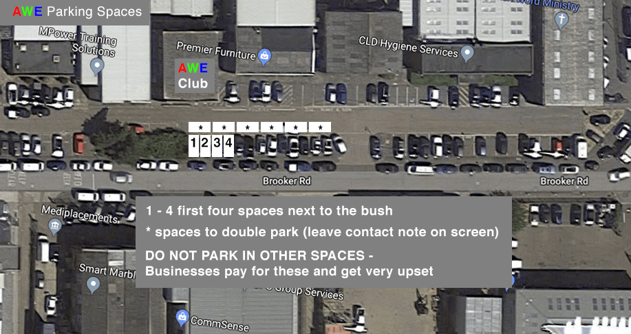AWE Club Parking Spaces